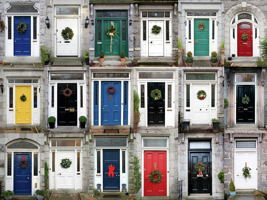 Eighteen Christmas Doors Photograph by Abzee