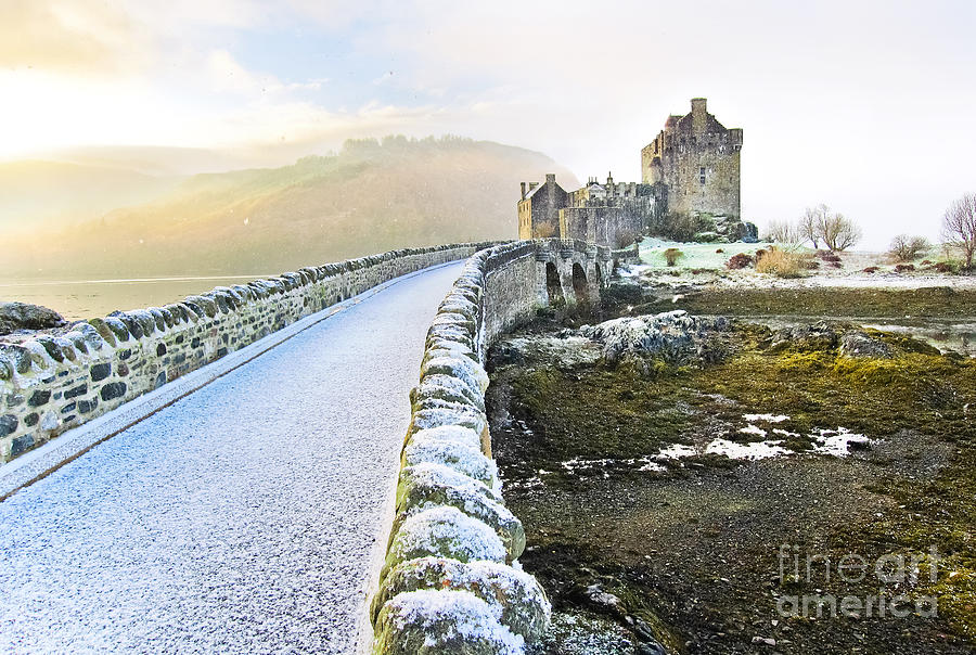 Castle Photograph - Eilean Donan Castle In Winter by Javen