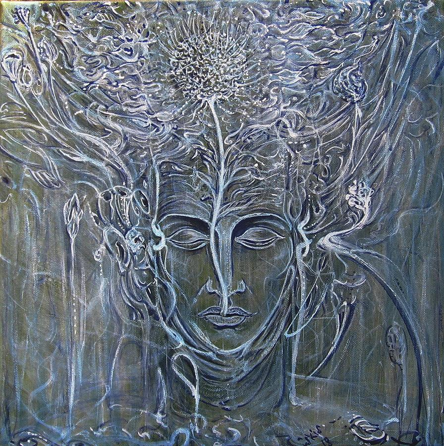 Buddha Painting - Einfach Das by Arkis Krayl