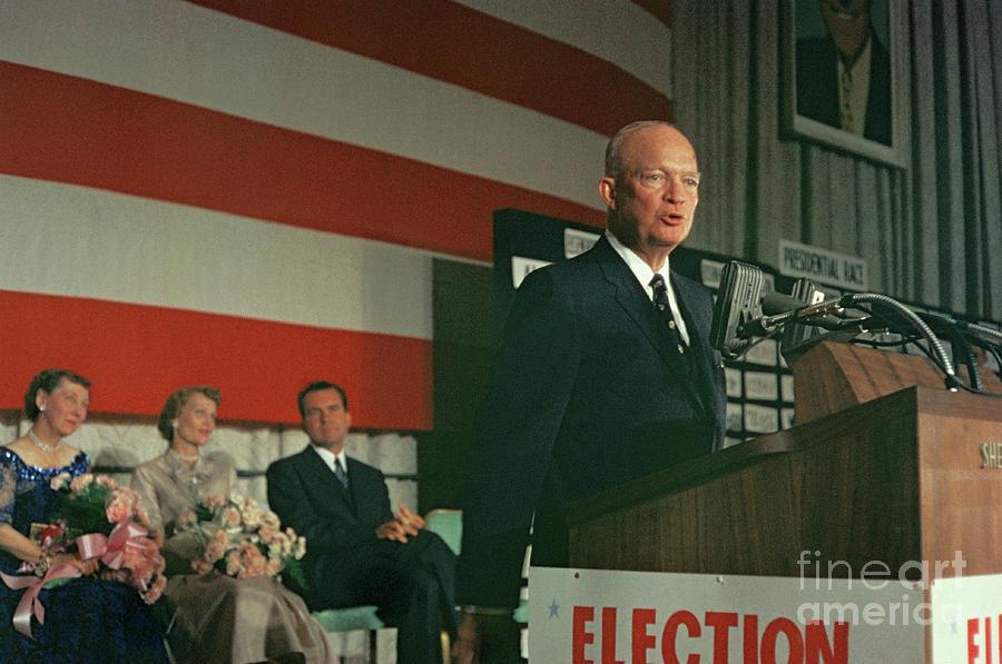 Eisenhower Making Election Speech Photograph by Bettmann