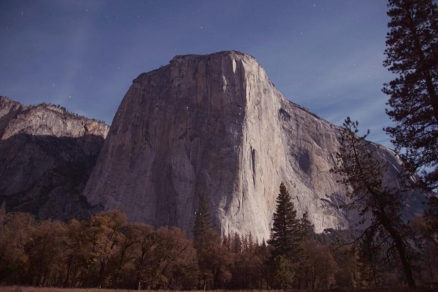 El Capitan At Night, Yosemite National Park by Michael Courtney