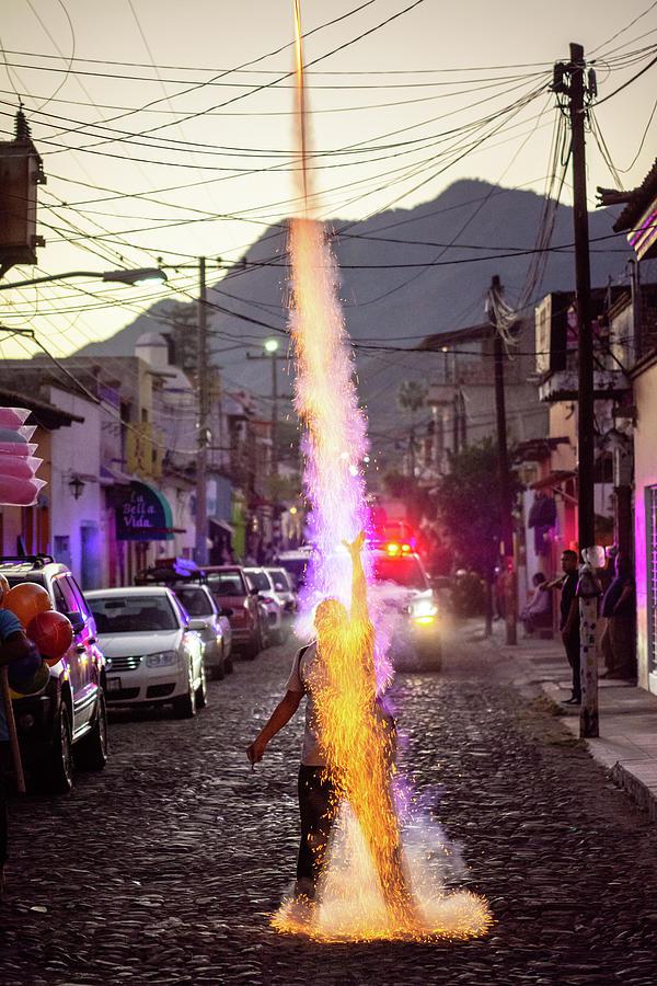 Cohete Photograph - El Cohetero by Dane Strom
