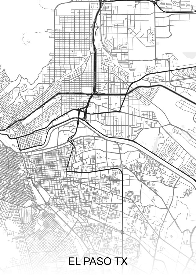 El Paso Map Tx Usa