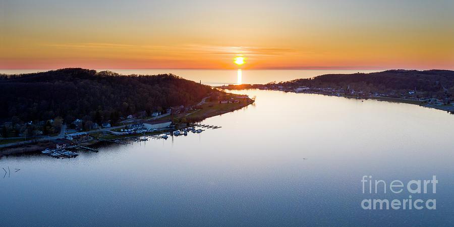 Elberta And Frankfort Sunset Photograph