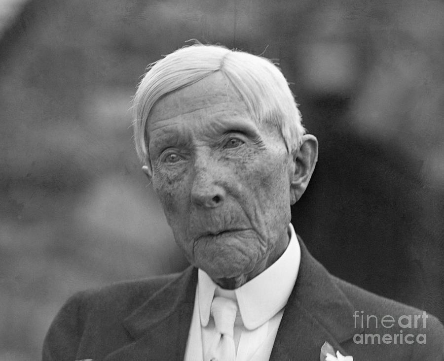 Elderly John D. Rockefeller by Bettmann