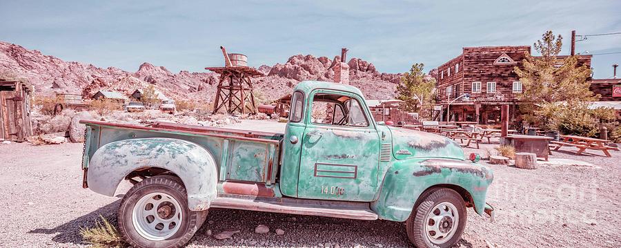 Nelson Photograph - Eldorado Ghost Town Searchlight Nevada Pano by Edward Fielding