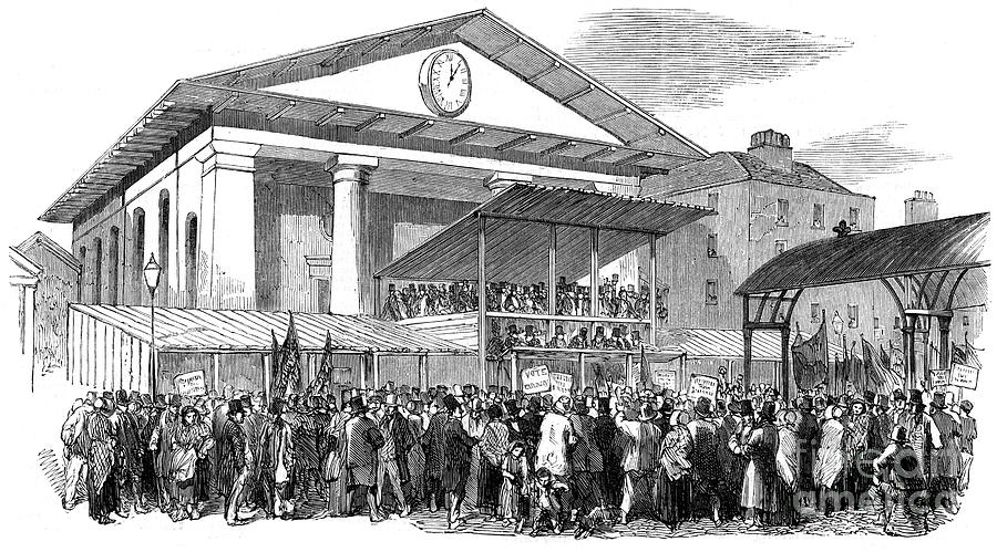 Election Hustings In Covent Garden Drawing by Print Collector