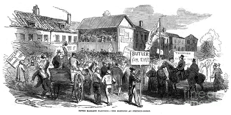 Election Hustings In Stepney Green Drawing by Print Collector
