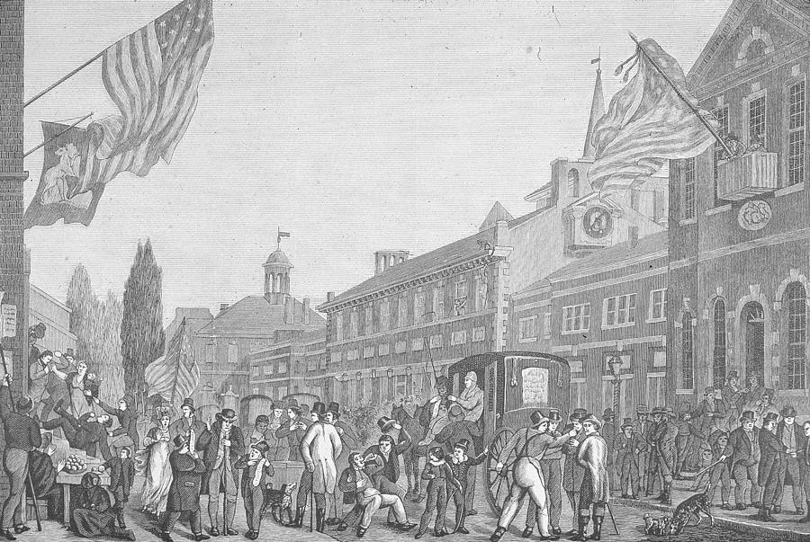 Election In Front Of State House, Pa Photograph by Kean Collection