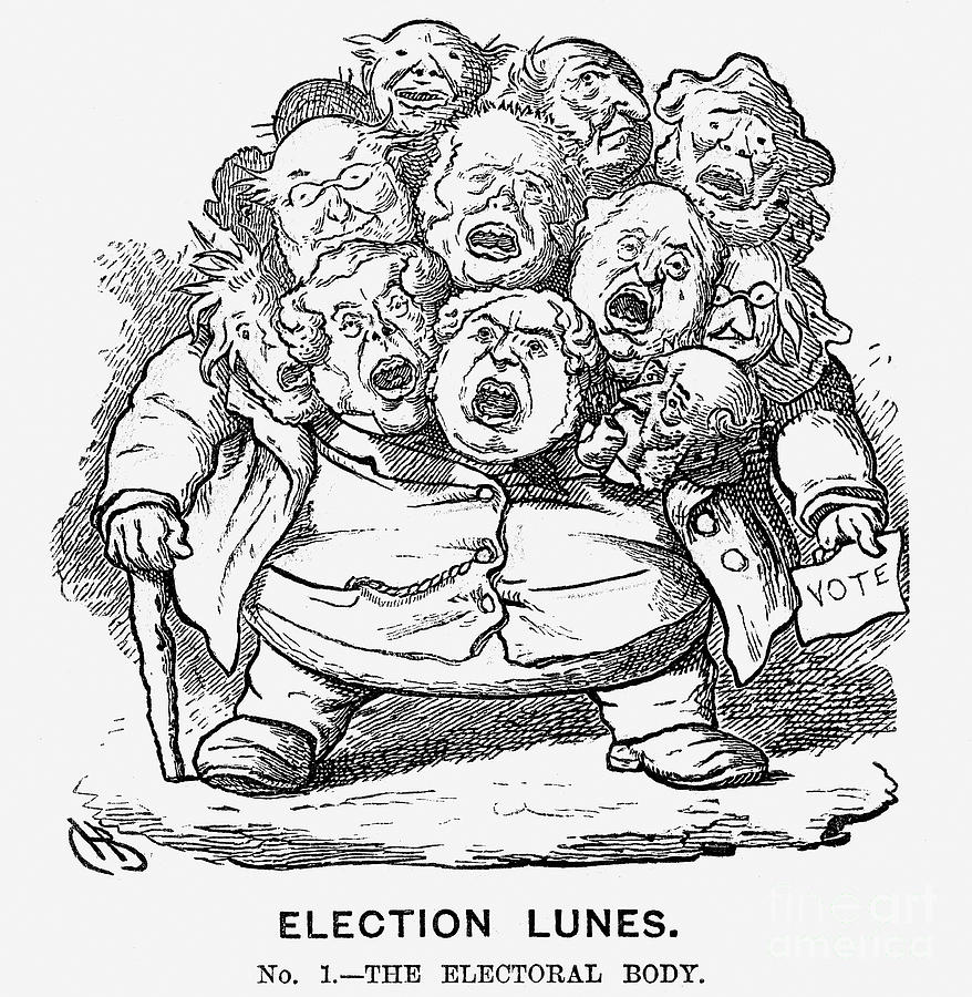 Election Lunes, 1865. Artist Charles Drawing by Print Collector