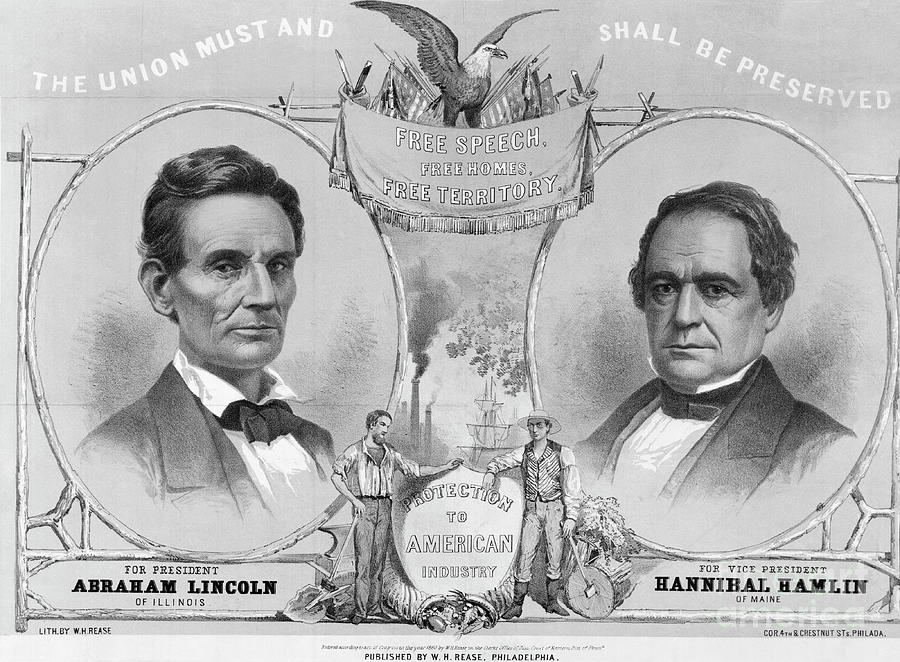Election Poster With Abraham Lincoln Photograph by Bettmann