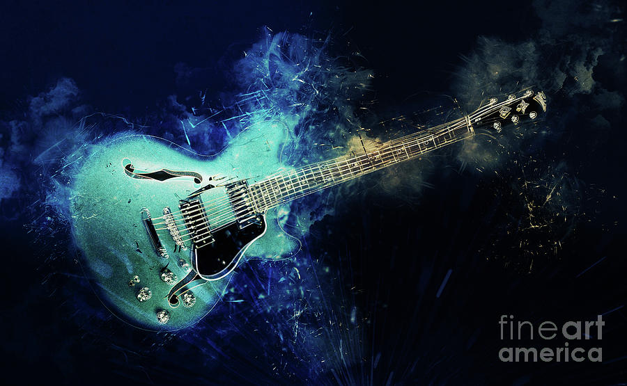 Electric Blue Guitar by Ian Mitchell
