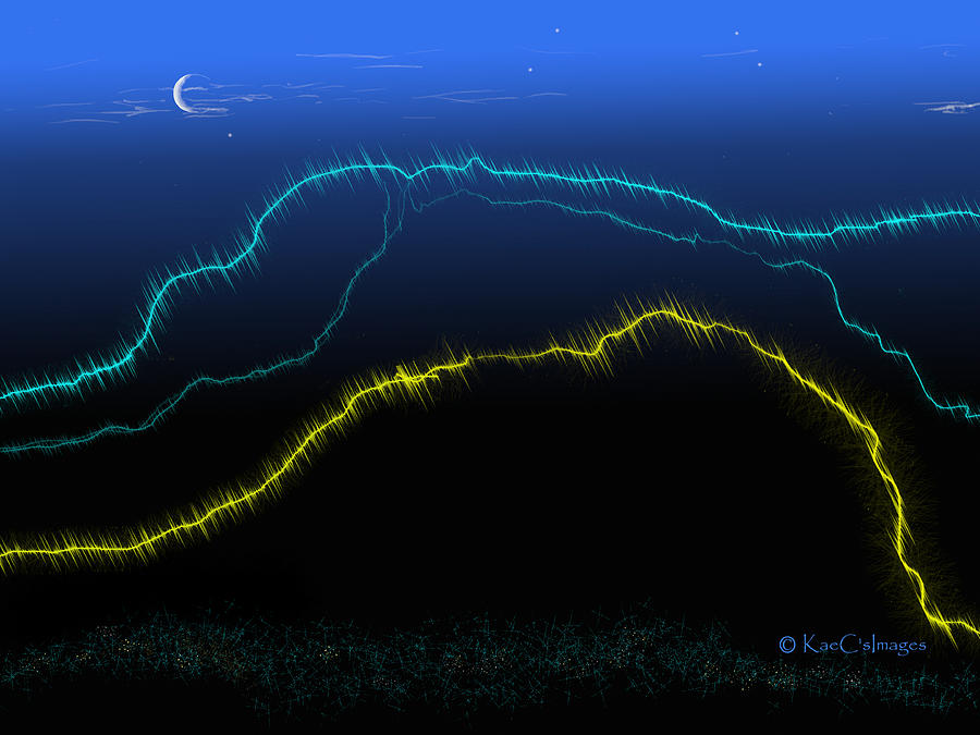 Electric Hills Abstract by Kae Cheatham