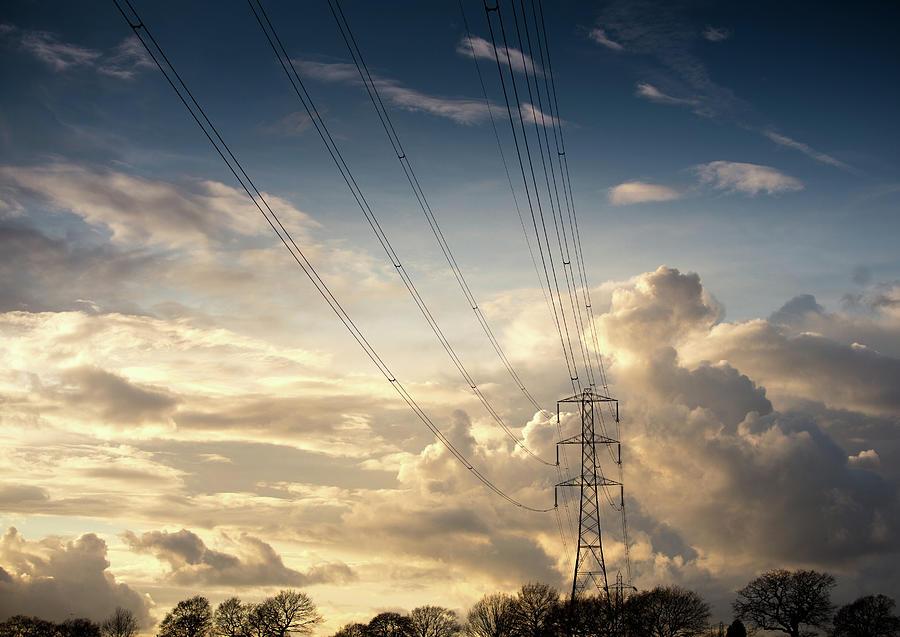 Electric Pylon Photograph by Peter Chadwick Lrps