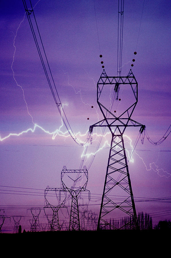Electricity Photograph by Lyle Leduc