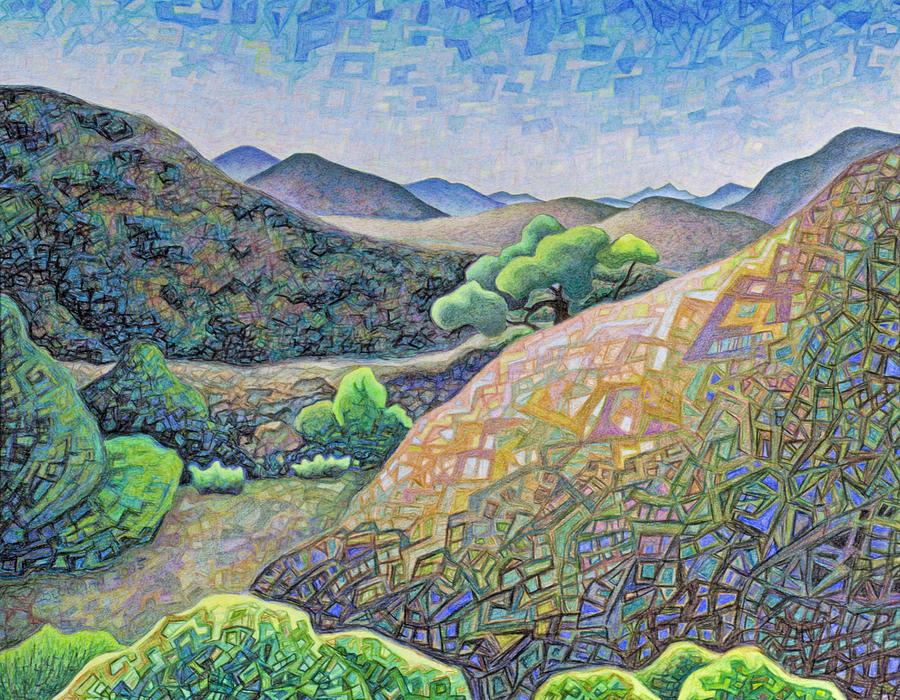 Badlands Drawing - Electromagnetic Observation #5 by Dale Beckman
