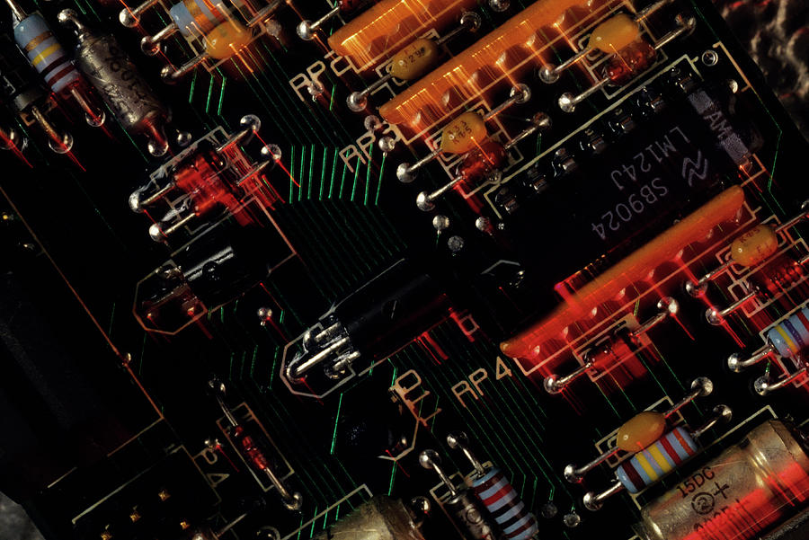 Electronic Manufacturing Micro Photograph by Kim Steele