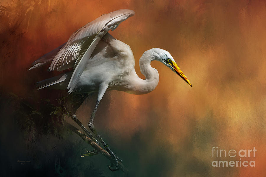 Bird Mixed Media - Elegance by Marvin Spates