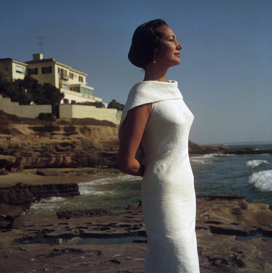 Elegance On The Beach Photograph by Slim Aarons