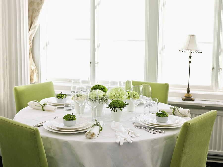 Elegant Place Setting Photograph by Johner Images