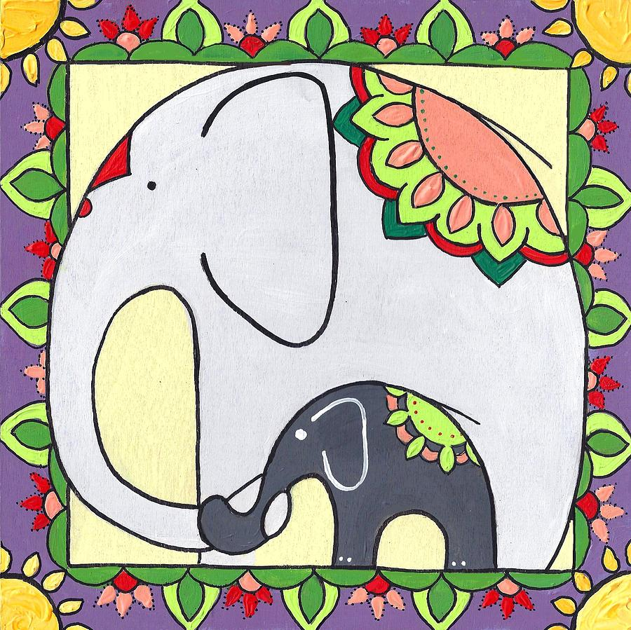Elephant and Child 6 by Caroline Sainis