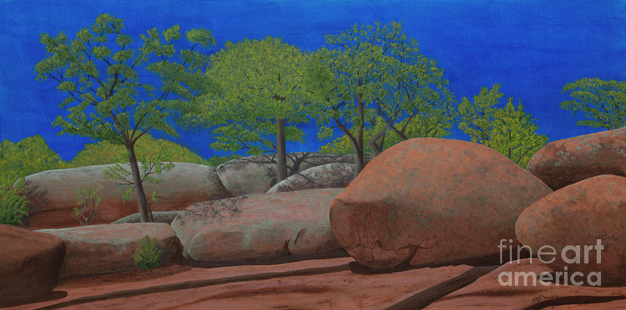 Elephant Rocks Easter Green by Garry McMichael