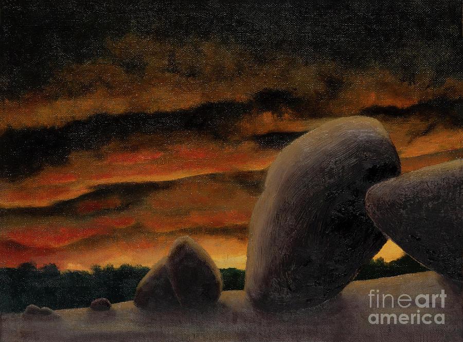 Elephant Rocks Summer Sunset by Garry McMichael