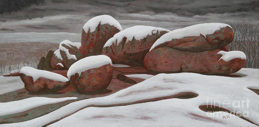 Elephant Rocks winter snow 3 by Garry McMichael