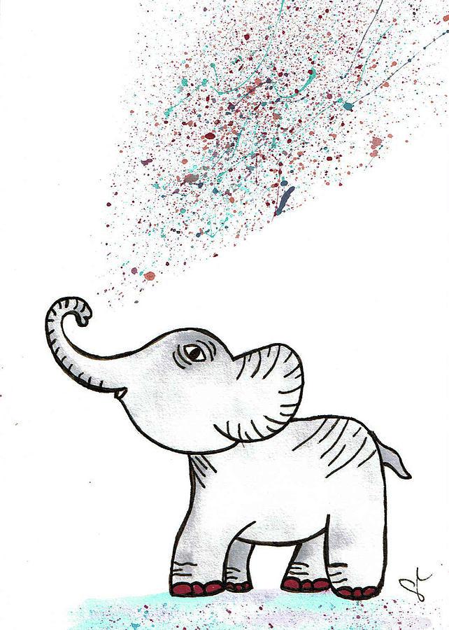 Elephant Spray by Angel Sharum