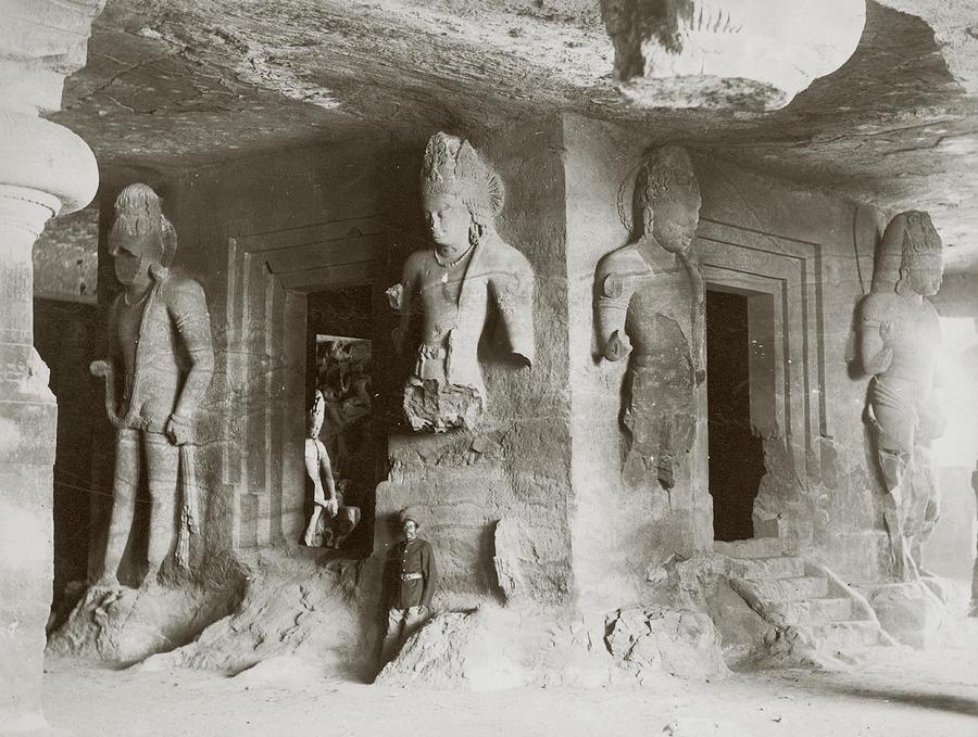 Elephanta Caves Photograph by Hulton Archive
