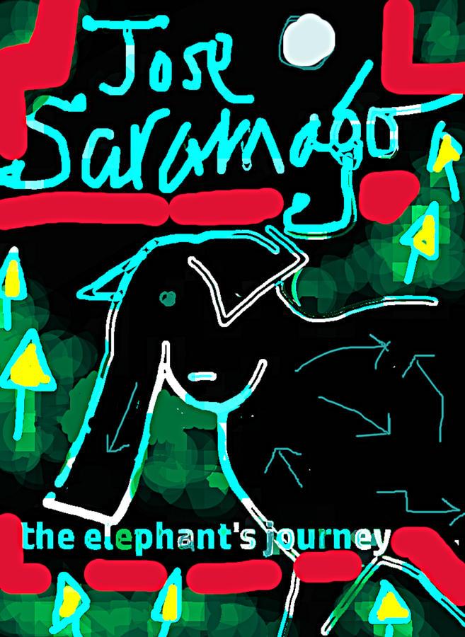 elephants journey poster  by Paul Sutcliffe