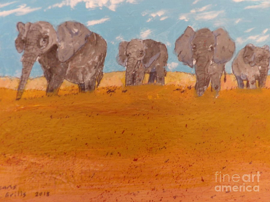 Elephants on Oarade by Patrick Grills