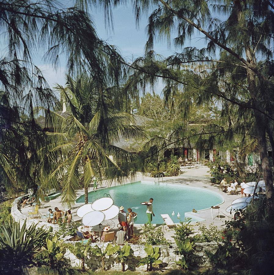 Eleuthera Pool Party Photograph by Slim Aarons