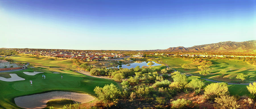 Horizontal Photograph - Elevated View Of Golf Course, Sun City by Panoramic Images