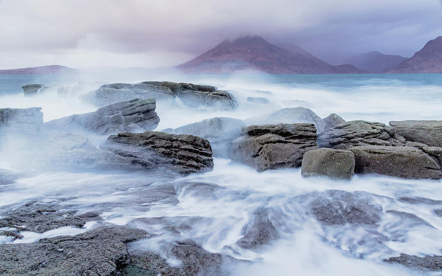 Elgol Wavebreak 3 Photograph