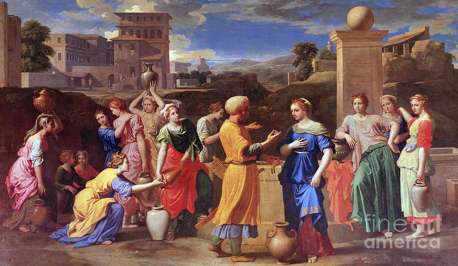 Rebecca Painting - Eliezer And Rebecca, 1648 by Nicolas Poussin