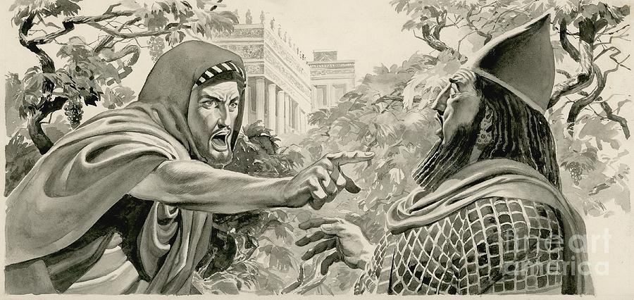 Elijah Denouncing King Ahab by Don Lawrence