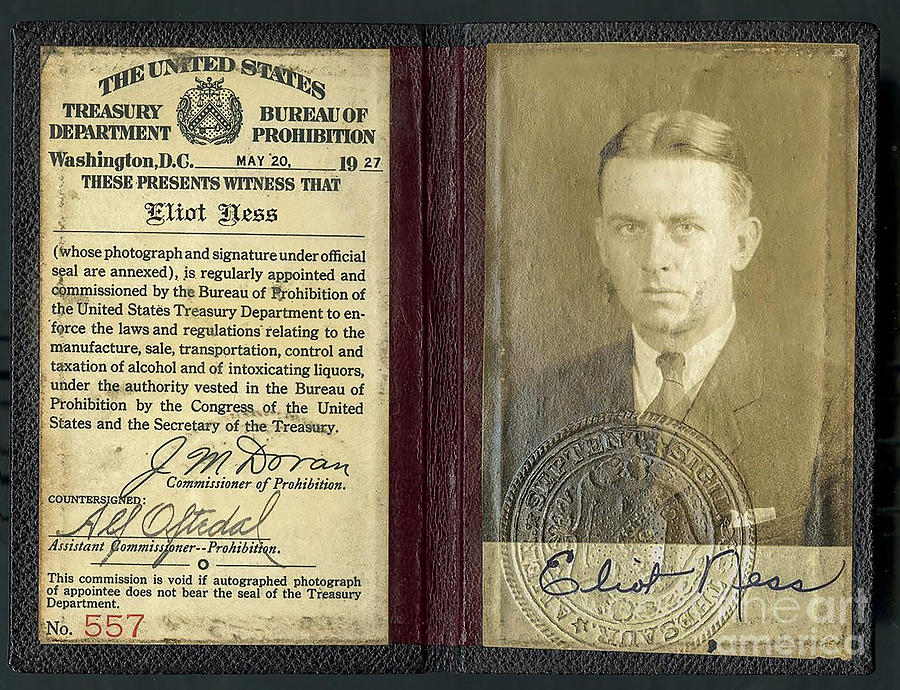 Eliot Ness Photograph - Eliot Ness Treasury Id by Jon Neidert