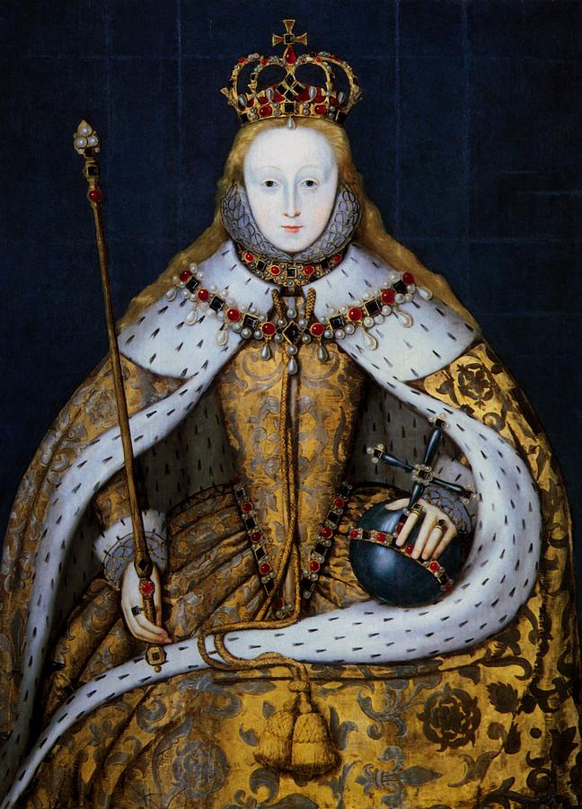Painting Painting - Elizabeth I Of England In Coronation Robes by Mountain Dreams