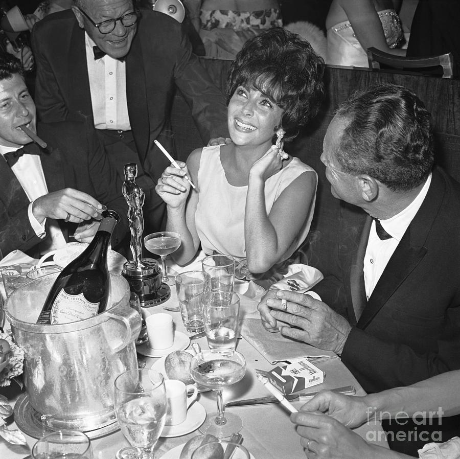 Elizabeth Taylor Celebrating Photograph by Bettmann
