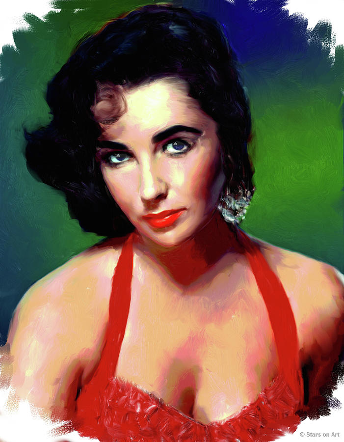 Elizabeth Taylor Painting Painting