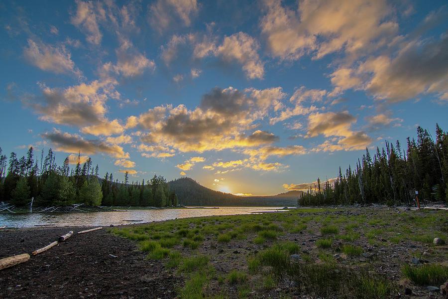 Elk Lake Sunset  by Matthew Irvin