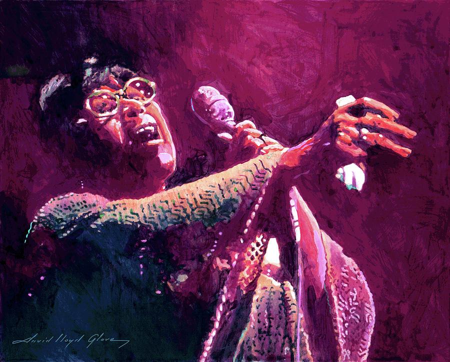 Jazz Painting - Ella Fitzgerald Jazzy by David Lloyd Glover