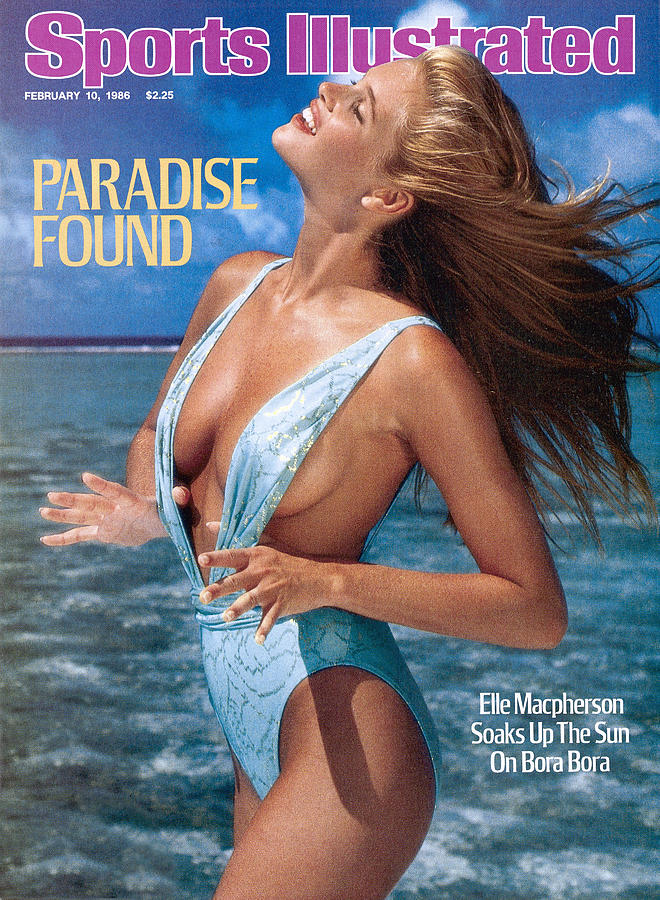Elle Macpherson Swimsuit 1986 Sports Illustrated Cover Photograph by Sports Illustrated