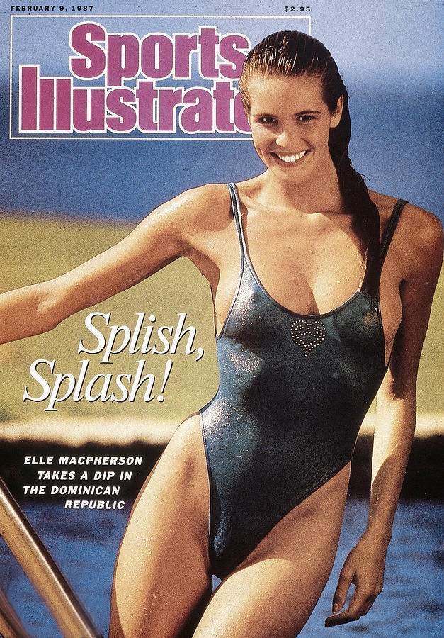 Elle Macpherson Swimsuit 1987 Sports Illustrated Cover Photograph by Sports Illustrated