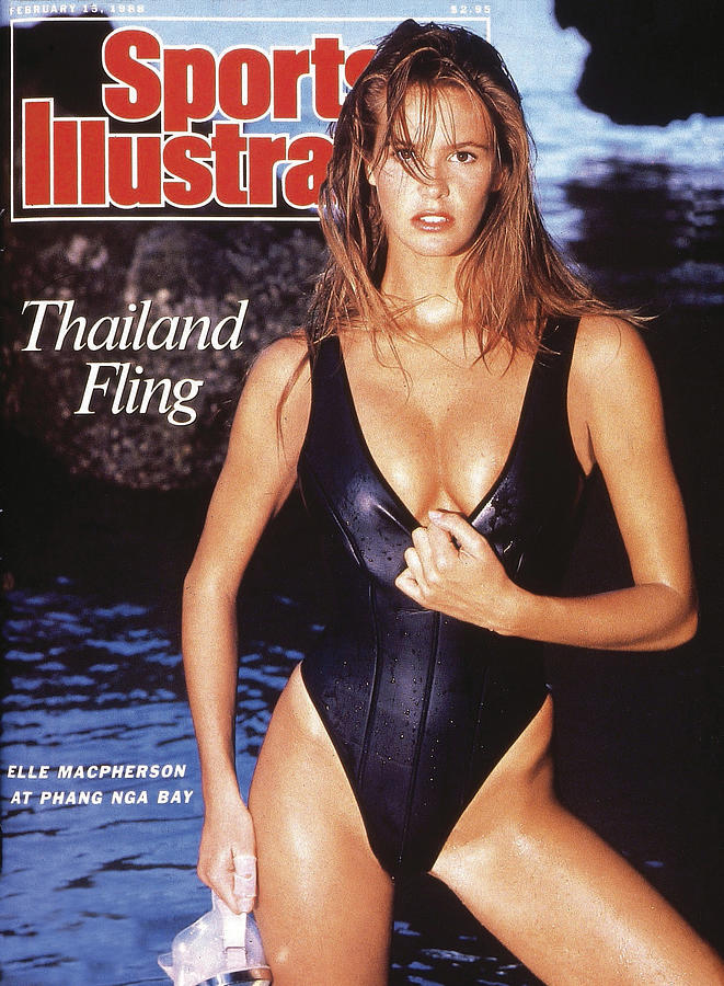 Elle Macpherson Swimsuit 1988 Sports Illustrated Cover Photograph by Sports Illustrated