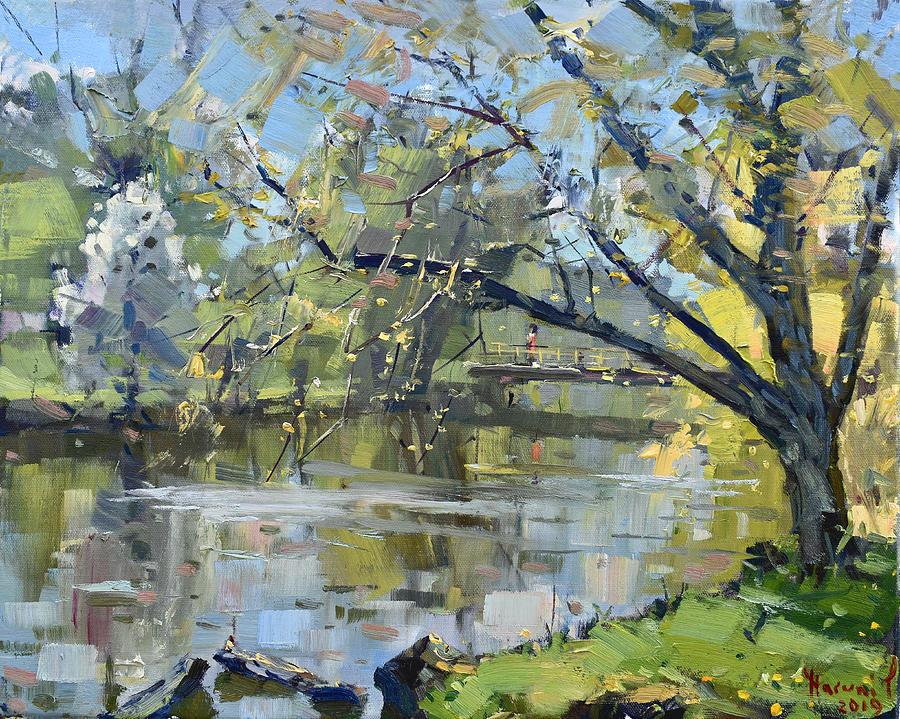 Ellicott Creek Painting - Ellicott Creek Park by Ylli Haruni