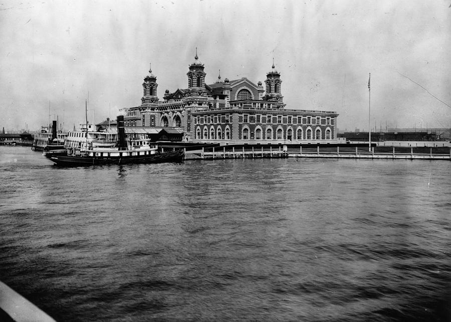 Ellis Island Photograph by Hulton Archive