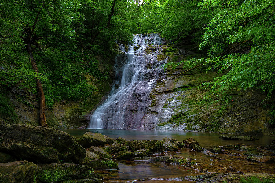 Elrod Waterfalls in Eastern Tennessee by Dee Browning