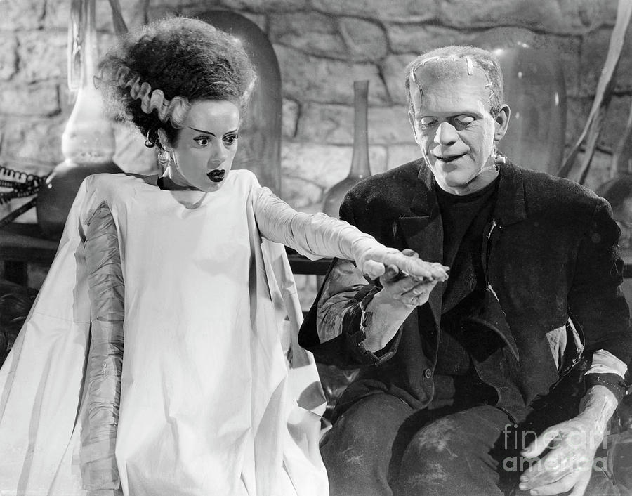 Elsa Lanchester And Boris Karloff Photograph by Bettmann